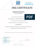 training certificates construction