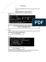 MySQL Query CMD Tutorial