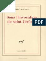 Sous L Invocation de Saint Jerome - Valery Larbaud