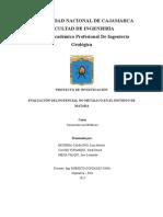 Evaluación Del Potencial No Metálico en El Distrito de Matara