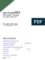 AYAAZ GRE Math Formula eBook