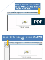 Step by Step Process Signature Validation