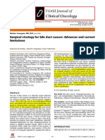 Surgical Strategy for Bile Duct Cancer_advances and Current Limitations_2011