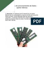 Periféricos de procesamiento de Datos (parte interna)