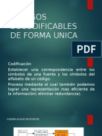 Codigos Decodificables de Forma Unica