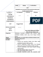 NO 40 SOP Permintaan Konsultasi Dokter Spesialis Pasien Ranap