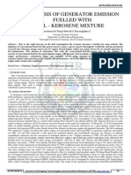 Analysis of generator emission fuelled with petrol kerosene mixture