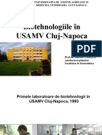 Biotehnologiile in USAMV 2015