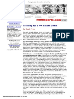 Training for a (Sub) 40 Minute 10km - By Roch Frey