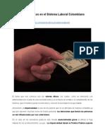 Valores éticos en el Sistema Laboral Colombiano