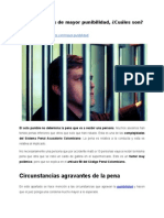 Circunstancias de mayor punibilidad, ¿Cuáles son?