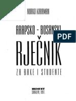 Arapsko-bosanski Rjecnik Za Djake i Studente