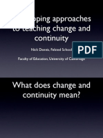 Developing approaches to teaching Change and Continuity
