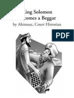 King Solomon Becomes a Beggar