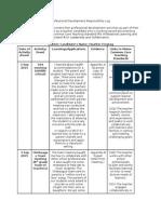 professional development responsibility log
