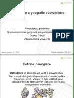Demografie a geografie obyvatelstva