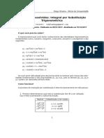 Exercícios Resolvidos - Integral por Substituição trigonométrica