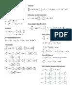 Fluid Mechanics Crib Sheet