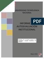 Informe de Autoevaluación Institucional de la Universidad Tecnológica Nacional