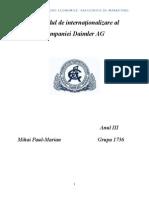 Gradul de Internaționalizare Al Companiei Daimler AG