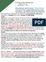Luke 14-07-11 the Danger of Self-Promotion