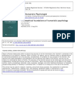 Davidson - Philosophical Foundation Humanistic Psychology
