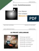 Les sources lumineuses dans le projet architectural