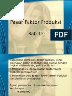 Pasar Faktor Produksi