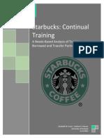 Starbucks Cont Training
