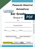 3er Grado - Bloque 3 - Matemáticas