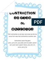 Contraction Go Fish or Matching