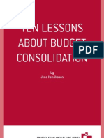 Jens Henriksson, Ten lessons about budget consolidation, Bru