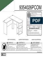 Assembly Instructions for Ameriwood L-shaped Desk Deskign.com