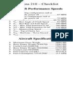 Checklist 210