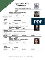Evergreen Park Arrests Dec. 4-Dec. 10, 2015