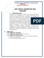 Analisis Fisitm5co Quimicos Del Yogurt