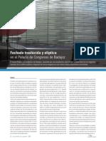 Articulo Fachada Traslucida y Eliptica en El Palacio de Congresos de Badajoz Www.ecoconstruccion.net
