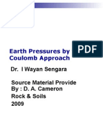 Coulomb Earth Pressures 2009