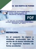 Cuidados de Enfermeria Paciente Intoxicado -Tema 13 Final
