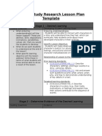 lesson study research lesson plan template