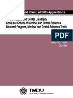 Doctoral Program, Medical and Dental Sciences Track TMDU