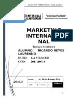 T.A  MARKTG INTER 2015-2 COD 2011110918
