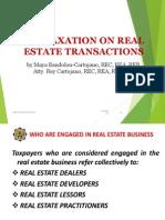 National Taxation o Real Estate Trans