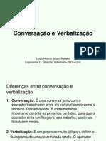 Conversacao e Verbalizacao