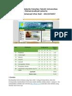 Evaluasi Website Fakultas Teknik Universitas Muhammadiyah Jakarta