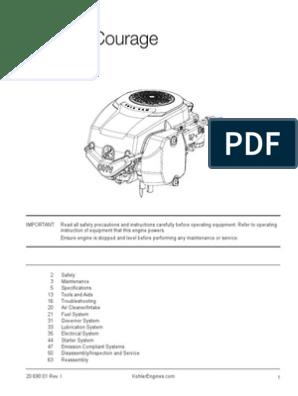 Kohler Courage 20 Service Manual - 20_690_01_EN   Carburetor   Gasoline