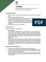 Peraturan Lomba BLAPC 2015