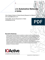 IOActive Adventures in Automotive Networks and Control Units