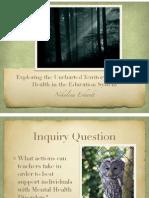 evidence mhd social justice presentation