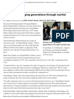 martial arts  bridging generations through martial arts - thonline